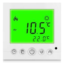Termostato Digital ambiental Suelo radiante Calentadores de pared LED verde #a32