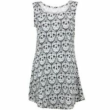 Swing Dress Women Mexican Skulls Print Party Smock Floaty LoudElephant