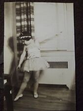 YOUNG GIRL IN A BALLERINA COSTUME, POSING Vintage 1920's PHOTO