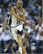 TONY PARKER  SIGNED SPUR'S 8x10 2007  Finals (hollwood collectibles