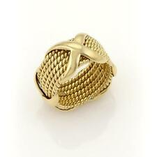 Tiffany & Co. Jean Schlumberger 18k Yellow Gold  6 Row Rope Band Ring Size 5.5