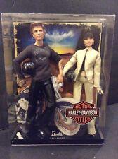 2009 Mattel HARLEY DAVIDSON BARBIE & KEN 2 Doll Pink Label Gift Set R9911