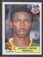 Panini - USA 94 World Cup - # 137 Joseph Mbarga - Cameroun (Green Back)