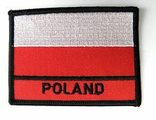 POLAND POLISH INTERNATIONAL COUNTRY FLAG EMBROIDERED PATCH 2.4 X 3.4 INCHES