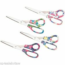 4 pair Household Stainless Scissors with Floral Design