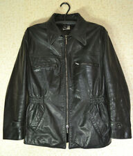 VINTAGE MEN'S ARMANI COLLEZIONI LEATHER Biker/Motorcycle/Racer Jacket size 50