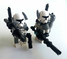 LEGO star wars custom Heavy Infantery CLONE soldat + lances grenades & Machine-Gun