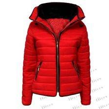 Ladies Quilted Padded Puffer Bubble Fur Collar Warm lot Thick Womens Jacket