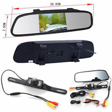 4.3'' HD LCD Car Rear View Mirror Monitor LED Night Vision Reverse Backup Camera