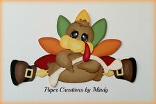 Craftecafe Mindy Thanksgiving Turkey premade paper piecing scrapbook page border