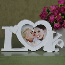 White Love Photo Frame Heart Shape With One Picture For Sweet Lover