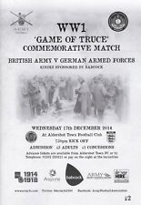 *  BRITISH ARMY v GERMAN ARMY WW1 TRUCE MATCH (17th December 2014) @ ALDERSHOT *