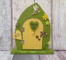 "Personalised  Handmade Wooden Freestanding Opening Fairy Door ""Tinkerbell """