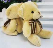 1pcs Adorable Soft Plush Stuffed Mini Brown Ribbon Teddy Bear Bouquet for Lover