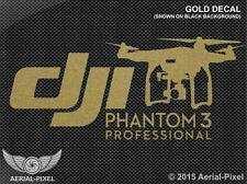 DJI Phantom 3 Professional Gold Window / Case Decal Sticker Not Inspire, Vision