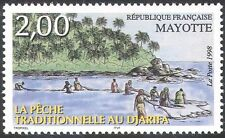 Mayotte 1998 Traditional Fishing/Palm Trees/People/Food/Business 1v (n42768)