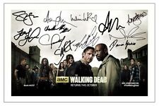 THE WALKING DEAD SEASON 6 CAST AUTOGRAPH SIGNED PHOTO PRINT  NORMAN REEDUS ETC