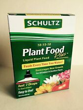 NEW Schultz All Purpose 10-15-10 Plant Food Plus, 8-ounce Liquid Fertilizer