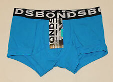 Bonds Mens Blue Black Coloured Plain FIT Trunk Brief Size M New