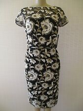 DAVID MEISTER FLORAL PRINT EMBROIDERED SHORT SLEEVE COCTAIL DRESS SIZE 2 - NWT