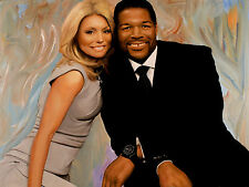 "Kelly Ripa & Michael Strahan - ""Live with Mike and Kelly"" Painting by Ron Lesser"