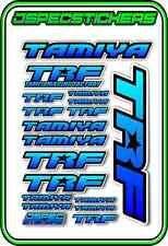 TRF TAMIYA RC STICKER REMOTE CONTROL STICKERS 418 RACING MODEL A5 R/C BLU/FADE B