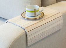 SOFA TRAY TABLE WHITE, TV tray, Wooden Coffee table, Lap desk for small spaces