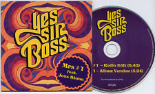 YES SIR BOSS ft JOSS STONE Mrs #1 2012 UK 2-trk promo CD