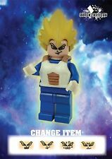 BREAKTHROUGH ARMY - Custom-Made Dragon Ball (7) Super Vegeta for Lego!