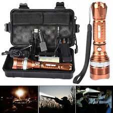 Bright 6000LM CREE XM-L T6 LED Adjustable Focus Flashlight Torch Zoom Lamps Set