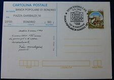 C.P. 750 CASTELLI RETRO SOVRASTAMPA I.P.Z.S. - BANCA POP. SONDRIO 1996