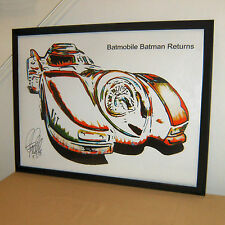 Hot Wheels, Batmobile, Batman Returns, Tim Burton, Race Car, 18x24 PRINT w/COA
