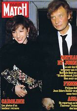 Couverture magazine,Coverage Paris-Match 11/03/83 Johnny Hallyday  Nathalie Baye