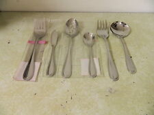 ESTIA STAINLESS PEARL LADLE BUTTER KNIFE MEAT FORK SUGAR & SLOTTED SERVING SPOON