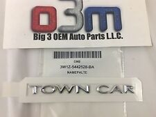 2003-2011 Lincoln Town Car Trunk Lid TOWNCAR NAMEPLATE OEM 3W1Z-5442528-BA New