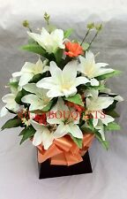 ARTIFICIAL SILK  LILY FLOWER ARRANGEMENT IN BOX