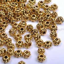 50pcs  Tibet Silver golden Cute Spacer Beads 4mm SH1028