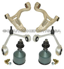 LINCOLN LS V6 V8 Front Upper + Lower Control Arms Ball Joints Bushings L+R 6 PC