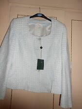 Fabulous Designer Baby Blue/Cream Jacket by GIANFRANCO CORNELLI Size 12: BNWT