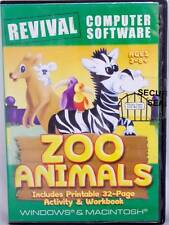 Zoo Animals Spelling Reading Memory Matching Windows Computer Game FUN Age 3-8+