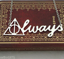"NEW Harry Potter Deathly Hallows ""Always"" Necklace - Perfect Gift for Christmas"