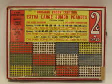 Vintage Original Candy Creation ~ Peanuts 2₵ Punch Board ~ Brewer & Sons Chicago