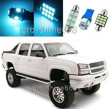 12PCS Aqua Ice Blue Interior Car LED Light Package Kit For Chevy Avalanche 02-06