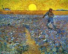 Vincent Van Gogh The Sower Oil Painting repro