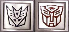 Pewter Belt Buckle Transformers reversable satin NEW