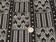 Fabric African Free Trade Kente Black & White on Cotton by the 1/4 yard A4
