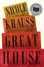 Great House by Nicole Krauss (2010, Hardcover) BRAND NEW FIRST EDITION