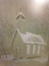 FREE SHIPPING!! ORIGINAL ED DODT FRAMED WATERCOLOR PAINTED- DEFIANCE OHIO ARTIST