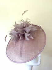 Pale Lilac Sinamay Saucer Disc Wedding Headpiece by Jasper Conran