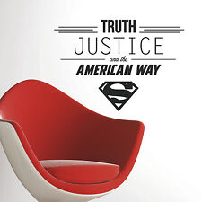 New Superman TRUTH JUSTICE AMERICAN WAY WALL DECALS DC Comics Stickers Boy Decor
